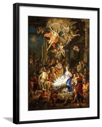 The Nativity-Frans Christoph Janneck-Framed Art Print