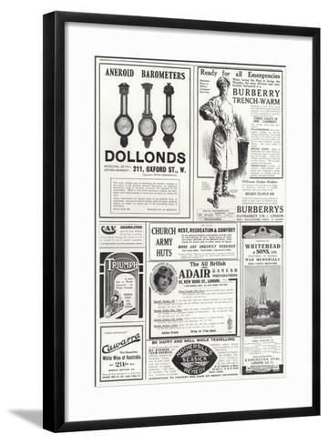 Advertising Spread from the Sphere--Framed Art Print
