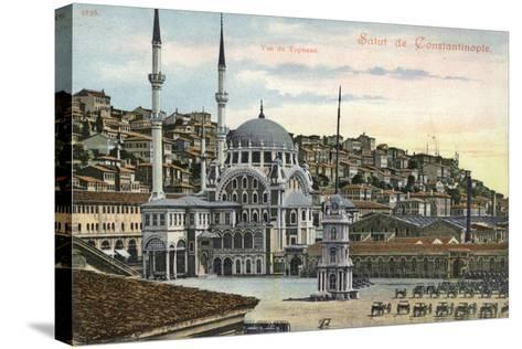 View of Tophane, Constantinople, Turkey--Stretched Canvas Print
