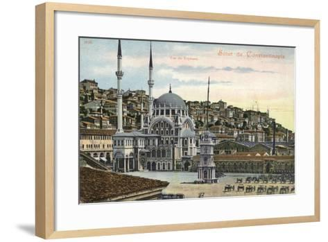 View of Tophane, Constantinople, Turkey--Framed Art Print