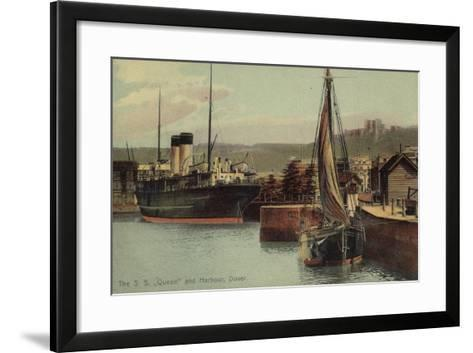 "The S S ""Queen"" and Harbour, Dover--Framed Art Print"