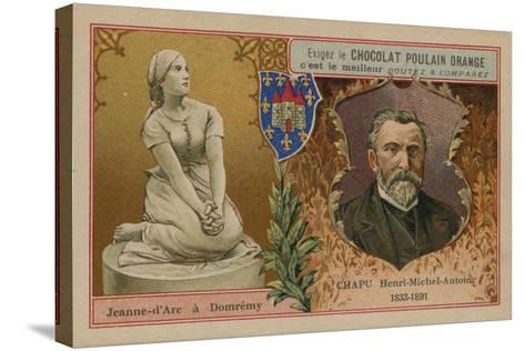 Chocolat Poulain Orange Trade Card--Stretched Canvas Print