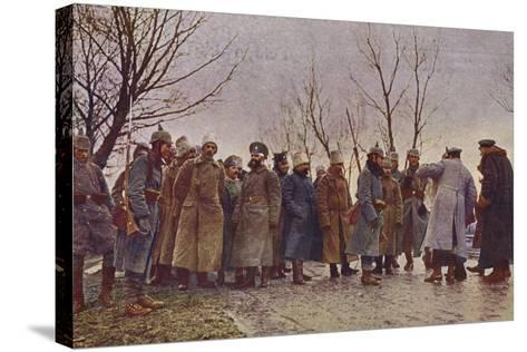 Captured Russian Officers, World War I, 1914-1915--Stretched Canvas Print
