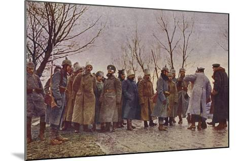 Captured Russian Officers, World War I, 1914-1915--Mounted Photographic Print