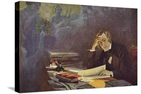 Portrait of Robert Schumann--Stretched Canvas Print
