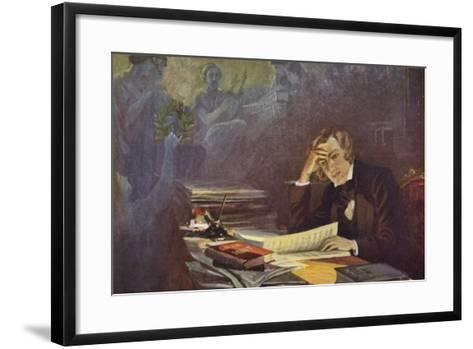 Portrait of Robert Schumann--Framed Art Print