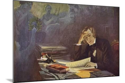 Portrait of Robert Schumann--Mounted Giclee Print