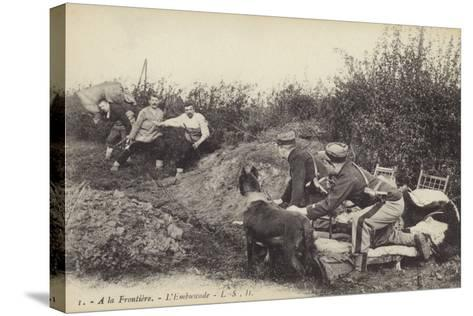 Ambush at the Frontier, World War I--Stretched Canvas Print