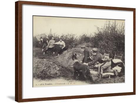 Ambush at the Frontier, World War I--Framed Art Print