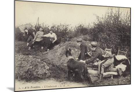 Ambush at the Frontier, World War I--Mounted Photographic Print