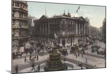 Piccadilly Circus, London--Mounted Photographic Print