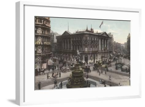 Piccadilly Circus, London--Framed Art Print