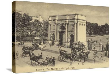 London, the Marble Arch Hyde Park--Stretched Canvas Print