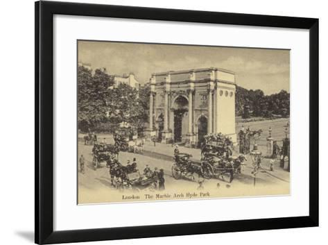 London, the Marble Arch Hyde Park--Framed Art Print