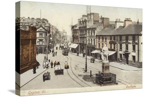 English Street, Carlisle--Stretched Canvas Print