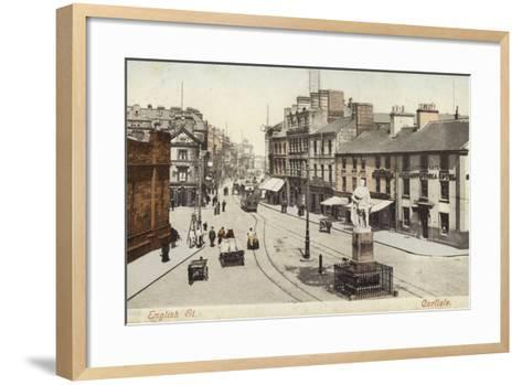 English Street, Carlisle--Framed Art Print