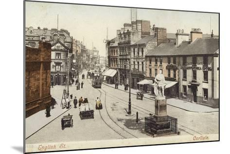 English Street, Carlisle--Mounted Photographic Print