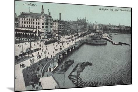 Hamburg - Jungfernstieg and Binnenalster--Mounted Photographic Print