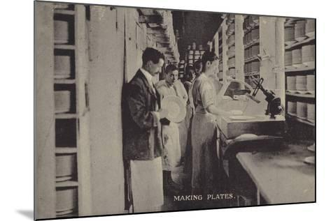 Making Plates--Mounted Photographic Print