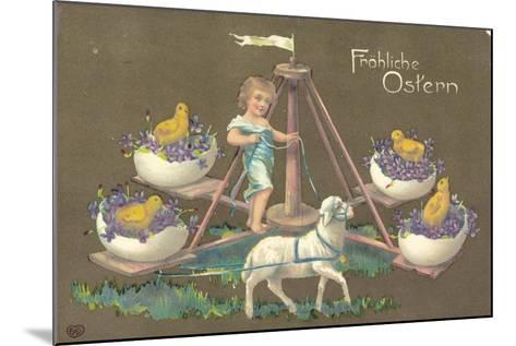 Easter Greetings Card--Mounted Giclee Print