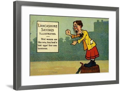 Lancashire Sayings Illustrated--Framed Art Print