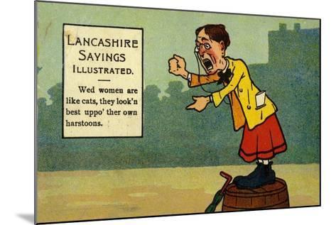 Lancashire Sayings Illustrated--Mounted Giclee Print