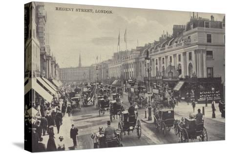 Regent Street, London--Stretched Canvas Print