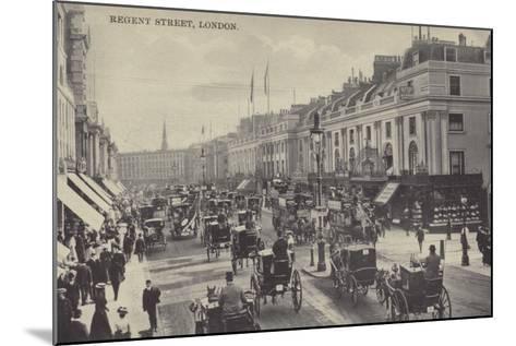 Regent Street, London--Mounted Photographic Print