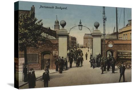 Portsmouth Dockyard--Stretched Canvas Print