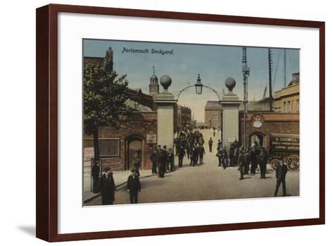 Portsmouth Dockyard--Framed Art Print