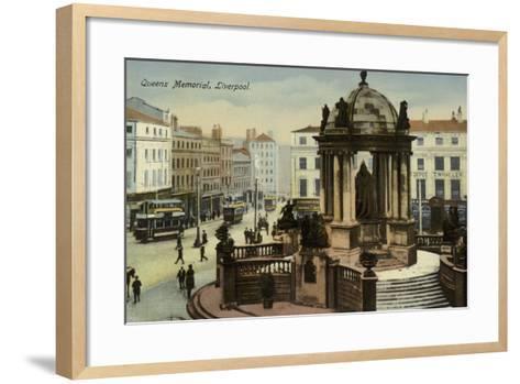 Victoria Monument, Liverpool--Framed Art Print