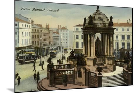 Victoria Monument, Liverpool--Mounted Photographic Print