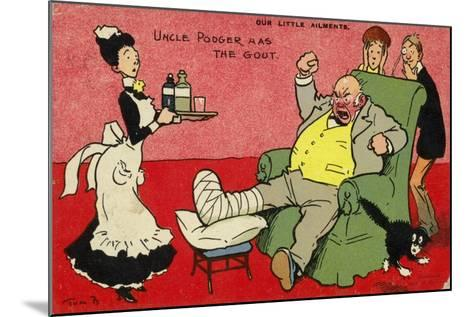Uncle Podger Has the Gout--Mounted Giclee Print