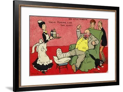 Uncle Podger Has the Gout--Framed Art Print