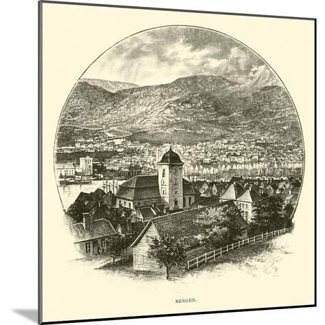 Bergen--Mounted Giclee Print