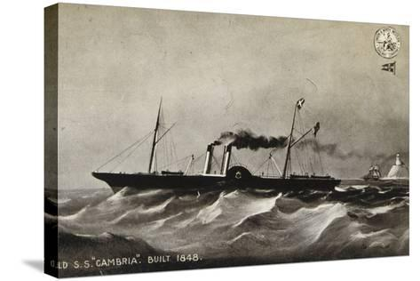 """Old Ss """"Cambria"""", Built 1848--Stretched Canvas Print"""