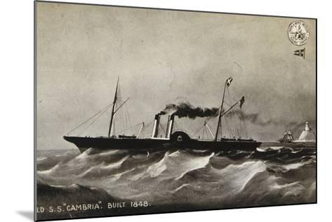 """Old Ss """"Cambria"""", Built 1848--Mounted Photographic Print"""