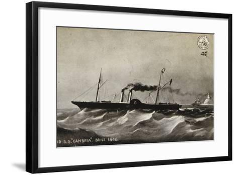 """Old Ss """"Cambria"""", Built 1848--Framed Art Print"""
