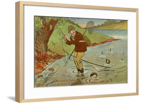 Angler with His Line Caught in a Tree--Framed Art Print