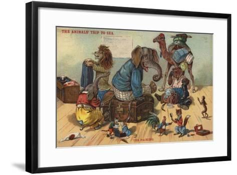 The Packing - the Animals' Trip to Sea--Framed Art Print