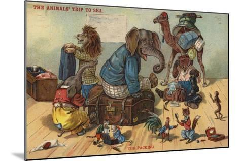 The Packing - the Animals' Trip to Sea--Mounted Giclee Print