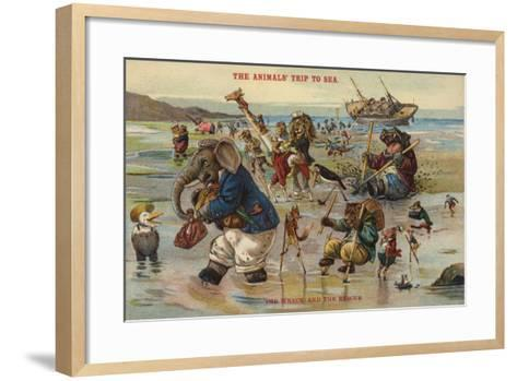 The Wreck and Rescue - the Animal's Trip to Sea--Framed Art Print