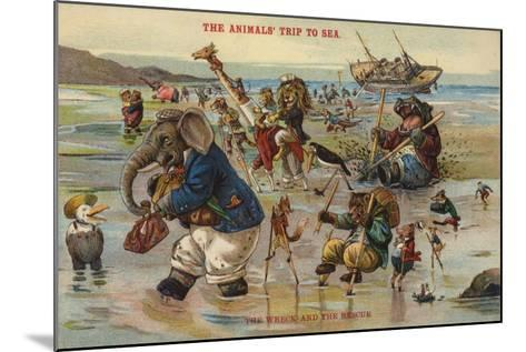 The Wreck and Rescue - the Animal's Trip to Sea--Mounted Giclee Print