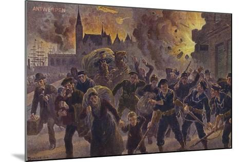 Siege of Antwerp, World War I, 9 October 1914--Mounted Giclee Print