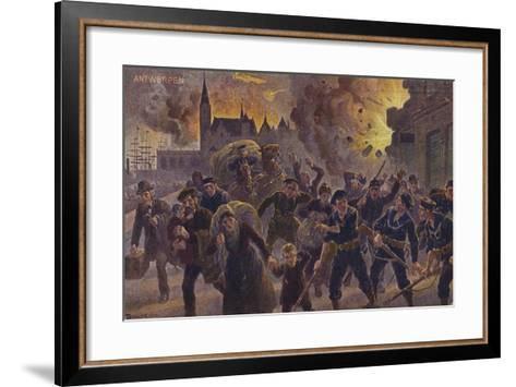 Siege of Antwerp, World War I, 9 October 1914--Framed Art Print