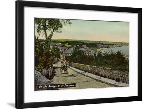 On the Newlyn Rd Nr Penzance--Framed Art Print