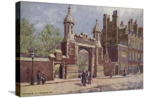 Entrance to Lincoln's Inn, London-Charles Edwin Flower-Stretched Canvas Print