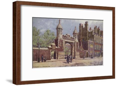 Entrance to Lincoln's Inn, London-Charles Edwin Flower-Framed Art Print