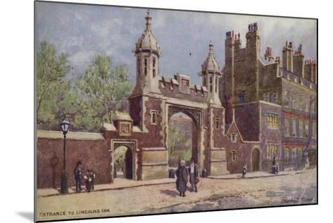 Entrance to Lincoln's Inn, London-Charles Edwin Flower-Mounted Giclee Print