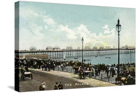 The Palace Pier in Brighton--Stretched Canvas Print